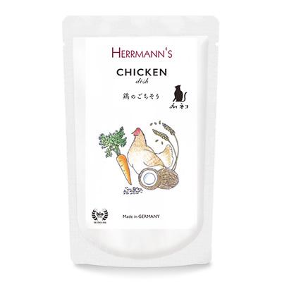 ヘルマン キャットフード ウェット 栄養補助食 チキン・ディッシュ (80g) HERRMANN'S Chicken dish for cats                                                                                                                                                                                        アイキャッチ画像