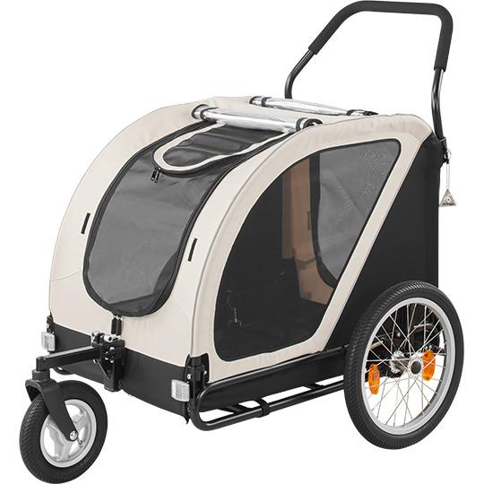 送料無料 エアバギー キューブシリーズ ネストバイク ペットカート 大型犬 中型犬 多頭飼い AIRBUGGY NEST Bikeアイキャッチ画像